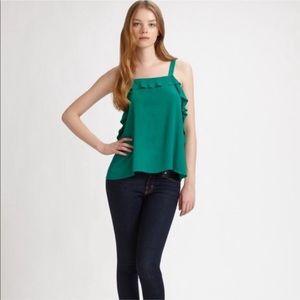 JOIE • joplin silk ruffled blouse
